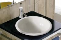 Scarabeo In-Out 30 Einbau-/Aufsatzwaschtisch Ø 29,5 cm, 8020, weiss