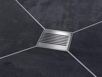 Kermi Ablaufabdeckung D52 Linien, L 115 x B 115 mm, BZD52000000UK
