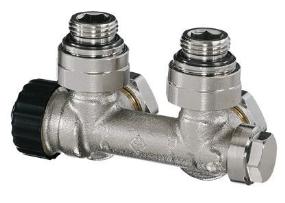"""Heimeier Multilux 2-Rohr Thermostat-Ventilunterteil DN 20 Eckform IG 1/2"""""""