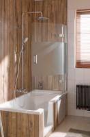 HSK Premium Softcube Badewannenaufsatz 2-teilig, pendelbar