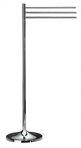 Koh-I-Noor KOKO Handtuchhalter mit 3 Stangen 33x23x88, Chrom, 5030KK