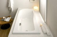 Hoesch Badewanne Modula 1800x800 Überlauf rechts,