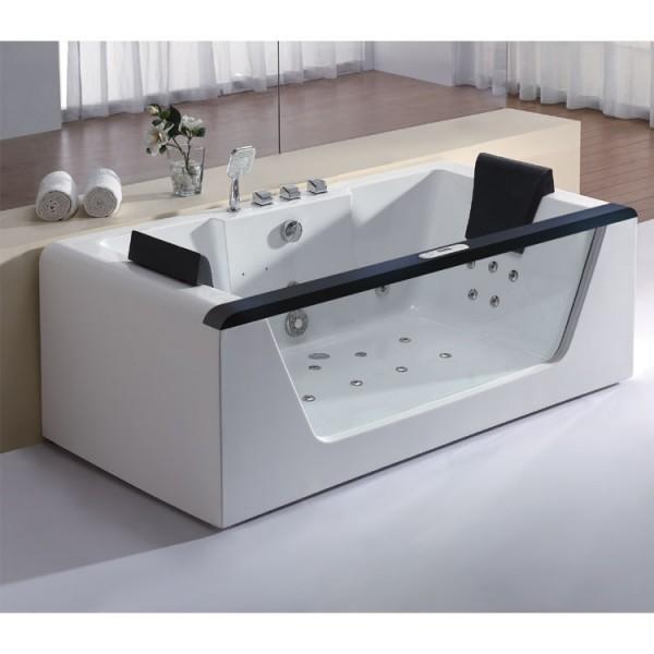 Whirlpool S 180x90 cm, Version schwarz