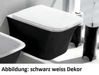 ArtCeram Cow Wand-Tiefspül-WC, B: 380, T: 520 mm, schwarz glänzend
