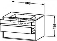 Duravit Waschtischunterschrank wandhängend Ketho T:550, B:800, H:496mm, KT6854