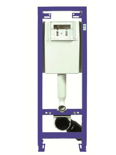 Neuesbad WC Vorwand-Element, B:360, H:1180mm, blau, pulverbeschichtet