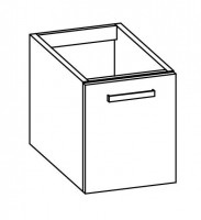 "Artiqua COLLECTION 411 Waschtischunterschrank zu ""2nd Floor""079040 B:350mm 1 Tür"
