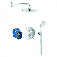 Grohe UP-Duschsystem Grohtherm 1000 34614 mit UP-THM/Kopf-/Handbrause chrom, 34614001