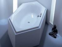 Hoesch Badewanne Maxi 6-Eck 2225x1000, weiß