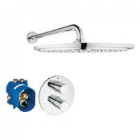 Grohe Unterputz-Duschsystem Rainshower 310 34571 mit UP-THM GRT 3000 C/KB 310 chrom, 34571000