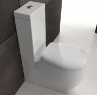 Axa one Serie Normal Stand-WC für Kombination, B: 350, T: 620 mm, weiss glänzend