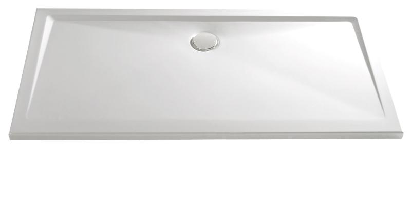 HSK Acryl Rechteck-Duschwanne super-flach 90 x 100 x 3,5 cm, ohne Schürze 525095-edelweiss