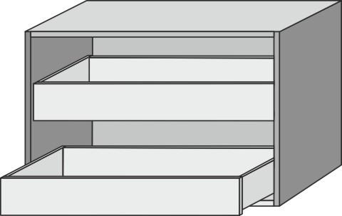 Sideboard offen Up2U GT12612, Esche Natural-Touch, H:540, B:800, T:428 mm GT12612