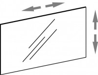 Artiqua DIMENSION 114 Variabler Spiegel auf Trägerplatte