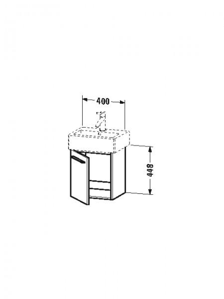 Duravit Waschtischunterschrank wandhängend X-Large 328x400x442mm , Front/Korpus: weiss matt, XL6209L