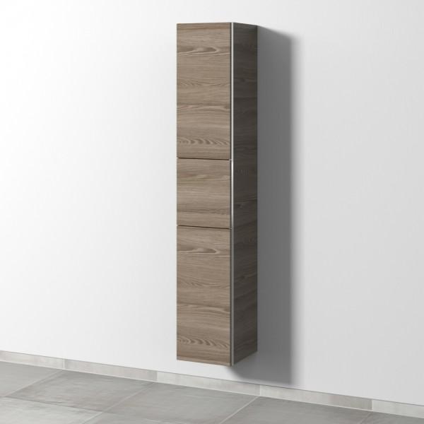 Sanipa 3way Hochschrank mit 2 Türen und 1 Auszug, Pinie-Grau