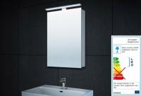Neuesbad Alu LED Spiegelschrank für Gäste-WC, B:400, H:600 mm