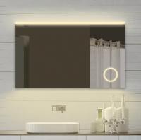 Neuesbad LED Lichtspiegel mit Schminkspiegel, Lichtfarbe wählbar, B:800, H:700 mm