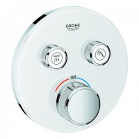 Grohe THM Grohtherm SmartControl 29151 rund FMS 2 Absperrventile moon white, 29151LS0