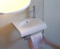 Globo Bowl+ Waschtisch, B: 400, T: 300, H: 150 mm, weiss