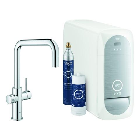 Grohe Blue Home Starter Kit 31543 auszb. Mousseur Bluetooth/WIFI U-Auslauf chrom, 31543000