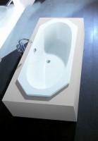 Hoesch Badewanne Armada 8-Eck 1800x800, pergamon