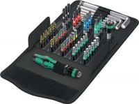 Wera-Werk Bitsortiment 52 tlg. PH/PZD/TX/6 KT/Schlitz Easy Toolfinder textile Box KK 100, 505746000