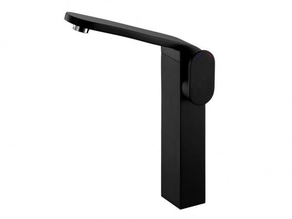 Neuesbad Futura black Waschtischbatterie mit erhöhten Standfuß, Farbe: schwarz matt