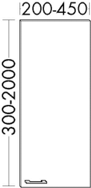Image of Burgbad Tür und Glaseinlageboden Sys30 PG3 1760x530x530 Eiche Dekor Vermont, FRW1500RF1506 FRW1500RF1506