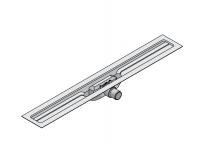 I-DRAIN Korpus Linear 54 mm, 100cm,1Siphon waagr.DN40,mit Abdichtg