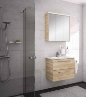 Neuesbad Serie 200 Badmöbelset B:650 mm, mit Spiegelschrank