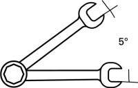 NORDWEST Handel AG Knarrenringmaulschlüssel SW 11 mm L. 168 mm 72 Zähne gerade Form PROMAT,