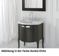 Globo Paestum Waschtisch-Unterschrank, bodenstehend, B:69, T:57, H:81,5cm, Blattsilber, PATS06, Blat