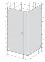 HSK K.21 Drehtür, Nebenteil und Seitenwand