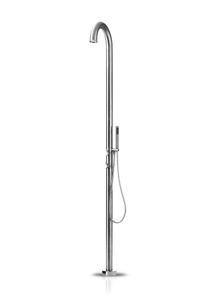 JEE-O original shower 02TH freistehende Dusche, edelstahl gebürstet, 100-6210