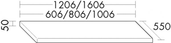 Burgbad Konsolenplatte 50x1206x550 Marone Dekor Trüffel, APW120BA0264