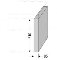 Sanipa Konsolenplatte vertikal 2morrow, WT58014 Pinie-Grau