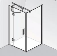 HSK Aperto Drehtür pendelbar an Nebenteil mit Seitenwand