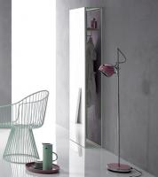Bette Lux Shape Standspiegel sky 60x24,4x190 cm Holz Eiche Mocca