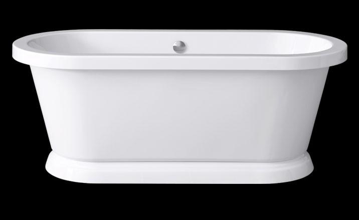 freistehende Badewanne Elegance Base 180 x 80 cm, 0100-067-06-B/CR 0100-067-06-B/CR