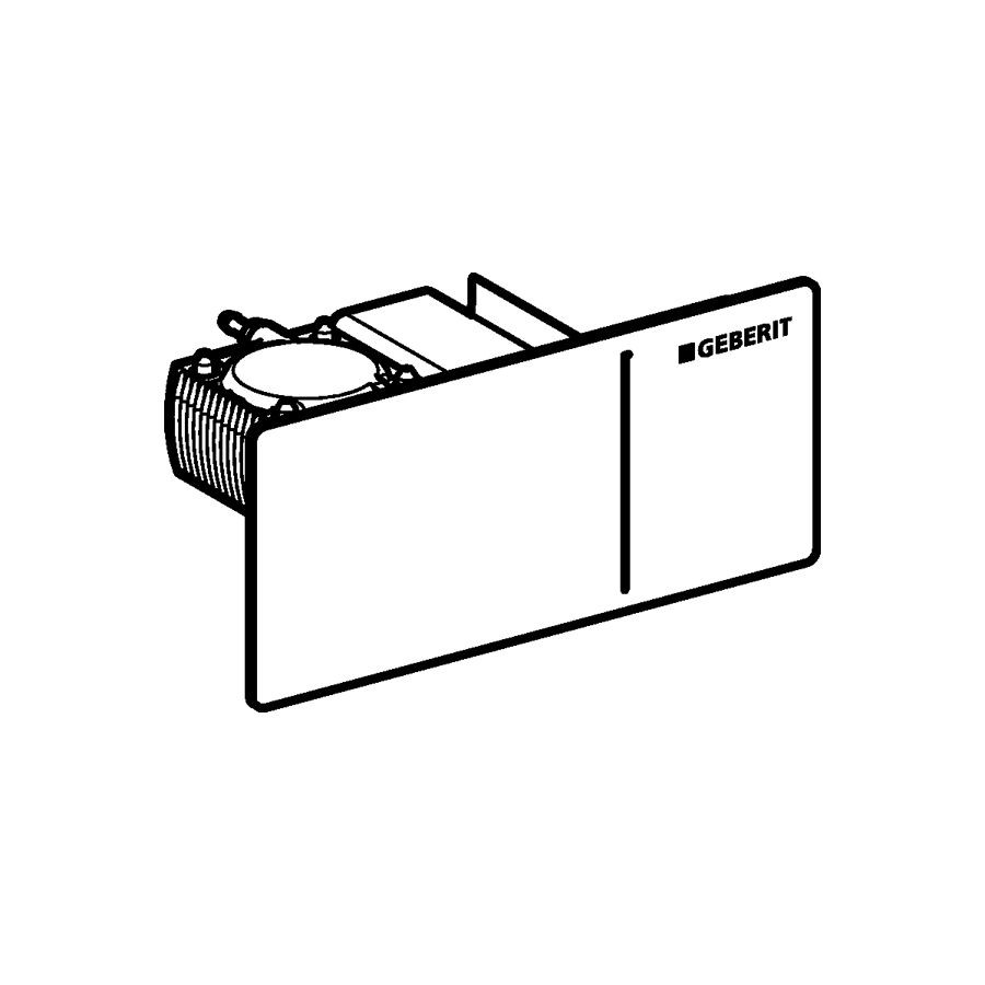 Fernbetätigung Sigma70 , 2-Mengen- Spül., zu Sigma Unterputz-Spülkasten 12cm edelstahl, 1156 115630FW1