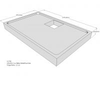 Neuesbad Wannenträger für Bette Floor Side 1400x900