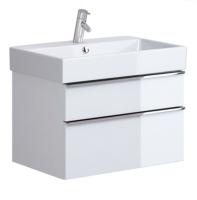 Neuesbad Serie 200 Waschtischunterschrank, B:694, T:447, H:430 mm, weiss glänzend