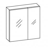 Artiqua COLLECTION 415 Spiegelschrank B:720mm 2 asymetrische Doppel-Spiegel-Türen