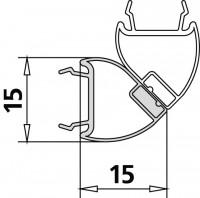 Kermi 4603 1x Dichtleiste 4719 22 L, Länge: 1963 mm, 2534926