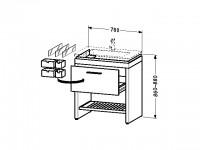 Duravit Waschtischunterschrank stehend 2nd floor 490x780x860-