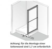 HSK Favorit Seitenwand zur Gleit-, Falt- und Klapptür
