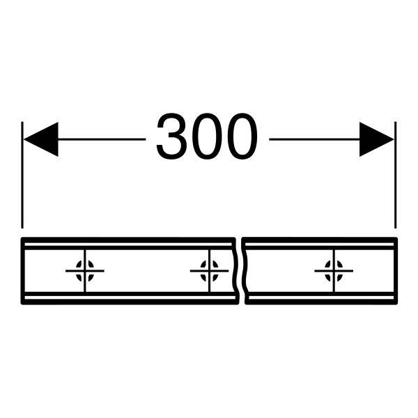 Geberit Duofix Systemsschiene 2 x 3m