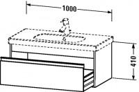 Duravit Waschtischunterschrank wandhängend Ketho T:455, B:1000, H:410mm, KT6668