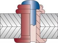 VVG-Befestigungstechnik Mehrbereichsblindniet OPTO® Nietschaft dxl 4,0x12,7mm Alu/Stahl 500 St. VVG,